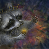 Cartoon: the gift of the racoon king (small) by nootoon tagged racoon,nootoon,art,germany,illustrator
