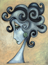 Cartoon: Medusa (small) by ninaboosart tagged medusa,stein