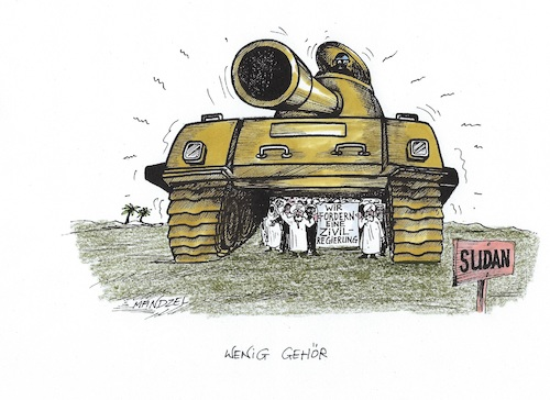 Cartoon: Gute Wünsche (medium) by mandzel tagged sudan,militärputsch,zivilregierung,demonstrationen,sudan,militärputsch,zivilregierung,demonstrationen