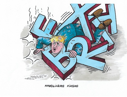 Cartoon: Johnson hat sich verkalkuliert (medium) by mandzel tagged großbritannien,premierminister,brexit,johnson,eu,politik,großbritannien,premierminister,brexit,johnson,eu,politik