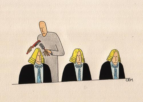 Cartoon: court (medium) by cemkoc tagged ko,cem,karikatürleri,hukuk,cartoons,law,court