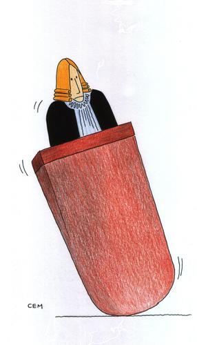Cartoon: judge cem koc (medium) by cemkoc tagged koc,cem,karikatürleri,hukuk,cartoons,law