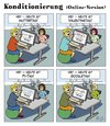Cartoon: Online-Konditionierung (small) by Andreas Pfeifle tagged google,muttertag,valentinstag,pi,tag,konditionierung
