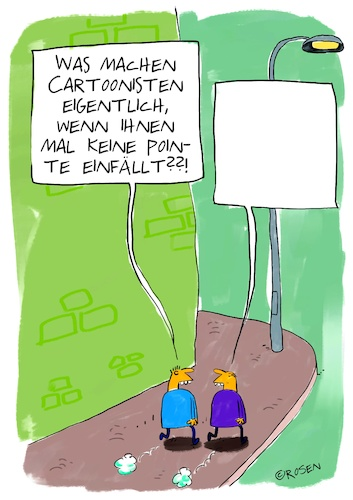 Cartoon: Cartoonisten (medium) by Holga Rosen tagged pointe,ideen,ideenlosigkeit,cartoonist,einfall,pointe,ideen,ideenlosigkeit,cartoonist,einfall