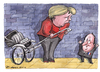 Cartoon: Merkhollande (small) by Tchavdar tagged francois,hollande,merkhollande,merkel,france,germany,rikshaw