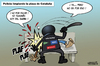 Cartoon: Spanish revolution (small) by cosmicomix tagged spanish,revolution,policia,democracia,real,ya