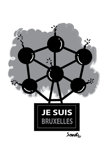 Cartoon: Brussels (medium) by ismail dogan tagged ije,suis,bruxelles