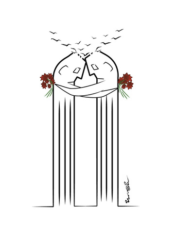 Cartoon: In Memory of the Septembre 11 (medium) by ismail dogan tagged 11,september