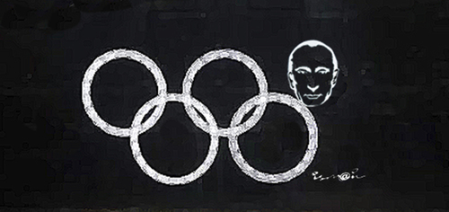 Cartoon: Sochi 2014 (medium) by ismail dogan tagged sochi,2014