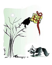 Cartoon: THE CROW AND THE FOX !.. (small) by ismail dogan tagged gift
