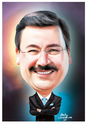 Cartoon: Melih Gökcek (small) by Halil I YILDIRIM tagged baskan