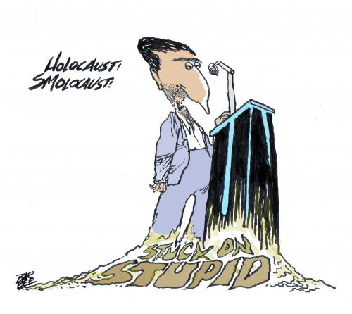 Cartoon: IRAN SPEAKS (medium) by barbeefish tagged nut,case