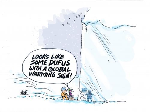 Cartoon: the big freeze (medium) by barbeefish tagged global,warming