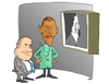 Cartoon: COLON SCOPIA (small) by uber tagged obama,palestina,nethanyau,israel,coloni,israele,colonist