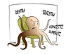 Cartoon: POLITICAL SPECTRUM (small) by uber tagged politica,destra,sinistra,right,left,parties,octopus,mafia
