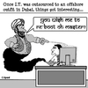 Cartoon: Arabian IT (small) by cartoonsbyspud tagged cartoon,spud,hr,recruitment,office,life,outsourced,marketing,it,finance,business,paul,taylor