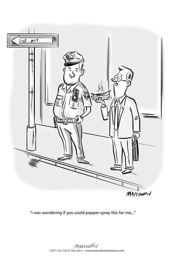 Cartoon: Pepper Spray (medium) by ian david marsden tagged fail,to,big,too,order,world,new,spray,pepper,nypd,ows,occupy,occupy,wall street,banken,wall,street