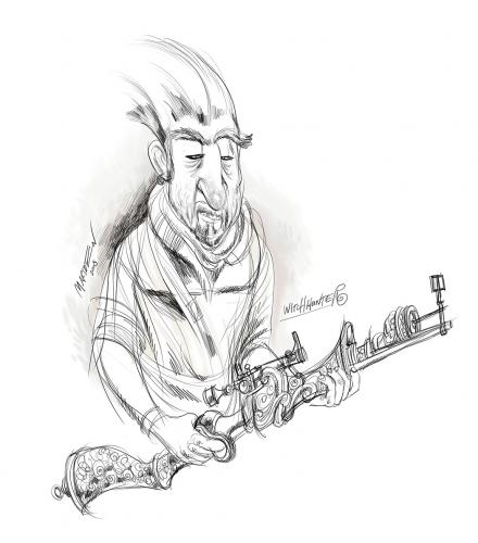 Cartoon: witch hunter (medium) by ian david marsden tagged witch,hunter,scribble,pencil,sketch,wacom,cintiq