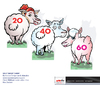 Cartoon: Golf Target sheep (small) by ian david marsden tagged golf,cartoon,sheep,new,zealand