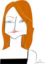 Cartoon: Jodie Foster (small) by Garrincha tagged caricatures