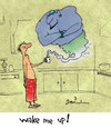 Cartoon: Morning genie (small) by Garrincha tagged gag cartoon garrincha morning coffee genie lamp