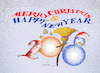 Cartoon: merry christmas (small) by zluetic tagged christmas,new,vear