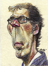 Cartoon: Laurent Blanc (small) by daulle tagged caricature daulle sport france