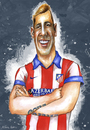 Cartoon: FERNANDO TORRES (small) by lagrancosaverde tagged fernando,torres,karikature,caricature,caricatura,atletico,madrid,chelsea,espana