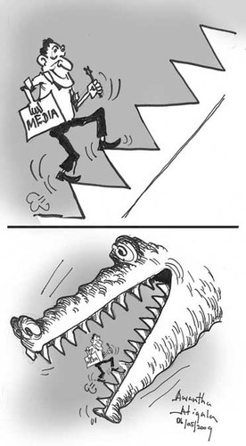 Cartoon: Risk Free Media (medium) by awantha tagged free,media