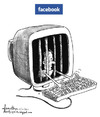 Cartoon: Facebook (small) by awantha tagged facebook
