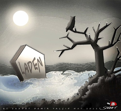 Cartoon: Grave (medium) by saadet demir yalcin tagged osame,syalcin,sdy,saadet,laden,bin