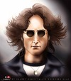 Cartoon: John Lennon (small) by saadet demir yalcin tagged saadet syalcin sdy johnlennon beatles music