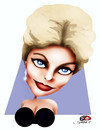 Cartoon: Kim Novak (small) by saadet demir yalcin tagged kimnovak,syalcin