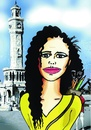 Cartoon: menekse cam portre (small) by saadet demir yalcin tagged mcam