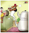Cartoon: tea and genius (small) by saadet demir yalcin tagged sdy,saadet,syalcin,turkey,humor,tea,womans,gin