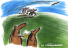 Cartoon: Dogs and beer (small) by LA RAZZIA tagged wheelchair,rollstuhl,hund,dog,sport,beer,bier