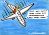 Cartoon: Plane crash (small) by LA RAZZIA tagged flugzeug,aeroplane,flugzeugabsturz