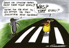 Cartoon: strichcode (small) by LA RAZZIA tagged strichcode,straße,street,police