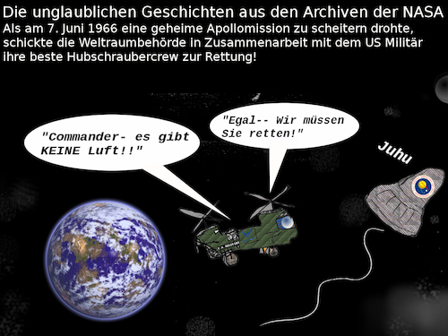 Cartoon: great american history (medium) by wheelman tagged raumfahrt,apollo,nasa,rettung,usa