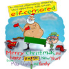 Cartoon: Elf-censorship (small) by mikess tagged christmas,santa,naked,elf,self,censorship,north,pole,presents,obscene,obscenity