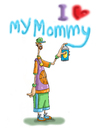 Cartoon: I Love my mommy! (small) by mikess tagged graffiti,artist,vandalism,spray,paint,crime,street,gangs,tags,tagging,hoodlum,punk,gang,signs,mothers,sons,mommy,day,can,urban,blight