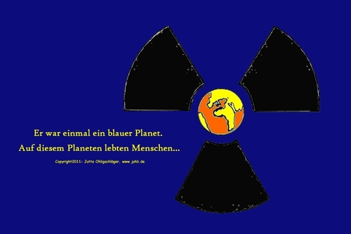 Cartoon: Es war einmal (medium) by Johli tagged atomausstieg,wahlen,merkel,erde,nukleare,strahlung