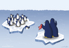 Cartoon: Pinguinabschied (small) by katelein tagged pinguin penguin arktis antarktis eisscholle nordpol südpol klimawandel