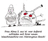 Cartoon: Hieronymus Bosch (small) by Oliver Kock tagged hieronymus,bosch,waschmaschine,qualität,zufriedenheit,oma,nick,blitzgarden,cartoon