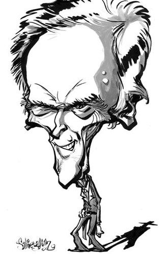 Cartoon: Clint Eastwood 2 (medium) by stieglitz tagged eastwood,clint,stieglitz,daniel,by,karikatur,caricatura,caricature