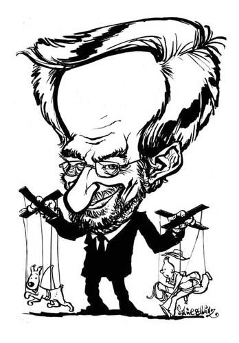 Cartoon: Steven Spielberg (medium) by stieglitz tagged steven,spielberg,karikatur,caricature