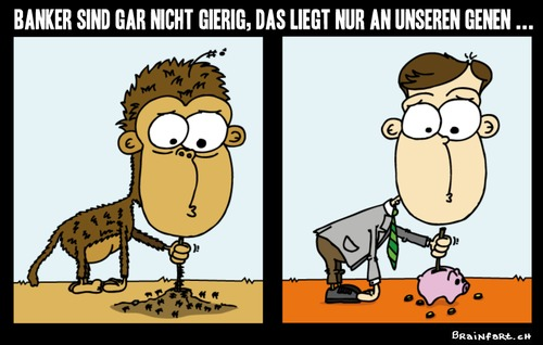 Cartoon: Some things never change! (medium) by BRAINFART tagged money,life,witzig,lustig,toonpool,pool,toon,funny,fun,character,cartoon,comic,evolution