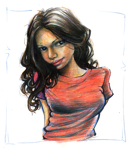 Cartoon: sketch (medium) by michaelscholl tagged sexy,woman,shirt,red