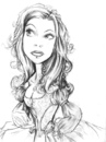 Cartoon: Amy-lee sketch (small) by michaelscholl tagged woman,pencil,drawing,cartoon,dress