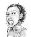 Cartoon: B. nice (small) by michaelscholl tagged funny,face,woman,pencil,drawing